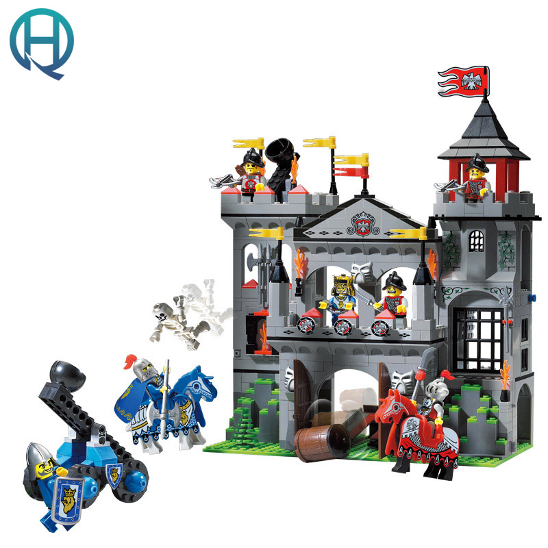Enlighten Castle Series Eagle Castle DIY Model Building Blocks Bricks Sets Educational Birthday Gift Toys for Children Kids