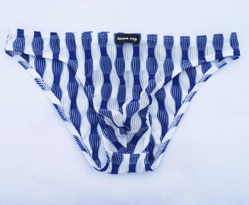 c107e6b7d660c Casual Men's Underwear Sexy Stripe Mens Briefs With Pouch Comfortable  Breathable Underpanty Nightwear Sleepwear bielizna meska