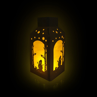 Bosheng DIY лазерная резка Бумага Фонари Бумага Рождество Декор Снеговик силуэт светило Фонари Shadow Box Крытый Декор