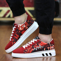 Casual Shoes Men Outdoor Walking Soft Lace-Up Shoes Platforms Breathable Height Increasing Shoes For Lovers 2016 Fashion