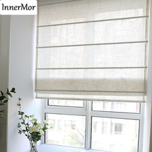 Innermor Solid natural roman Curtains For Living room simple linen Roman blind curtains for kitchen bedroom soft Customized