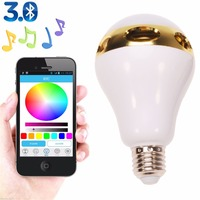Newest LED Color Bluetooth Music Audio Speaker App Control E27 Bulb Light Lamp For IPhone For