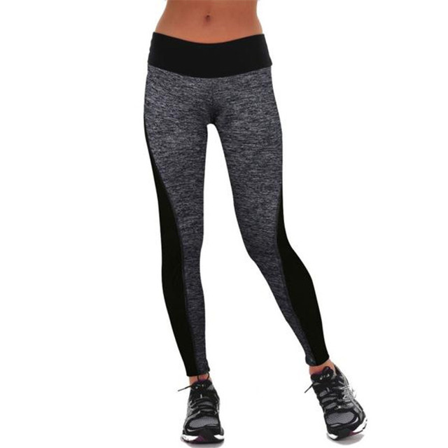 Feitong Pants Women Standard Solid Workout Fitness Leggins Deporte Mujer  Slim Elastic High Waist Push Up cd44688bb4ec3