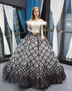 Image 3 - J66758 jancember quinceanera robes 15 robe de bal hors de lépaule bateau cou étage longueur robe de bal robes de quinceaneras