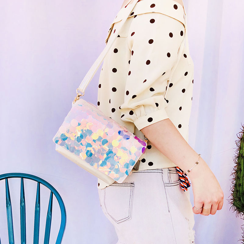 LilyHood Women Summer Sequin Flap Crossbody Bag Female Fashion Casual Beach  Iridescent Sparkle Paillette Small Cute Shoulder Bag-in Shoulder Bags from  ... ba2465b10e71