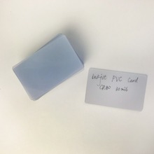 50 Stks/partij Leeg Glossy Normale Creditcard Maat Wit Plastic Inkjet Pvc Id kaart Transparante Kaart Voor Epson/Canon inkjet Printers