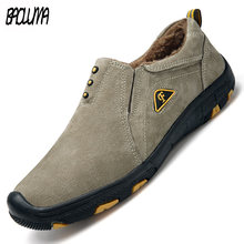 Merk Mannen Laarzen Winter Pluche Warme Snowboots Heren Winter Laarzen Werk Herfst Basic Rijden Enkel Schoenen Plus Size 38 -48(China)