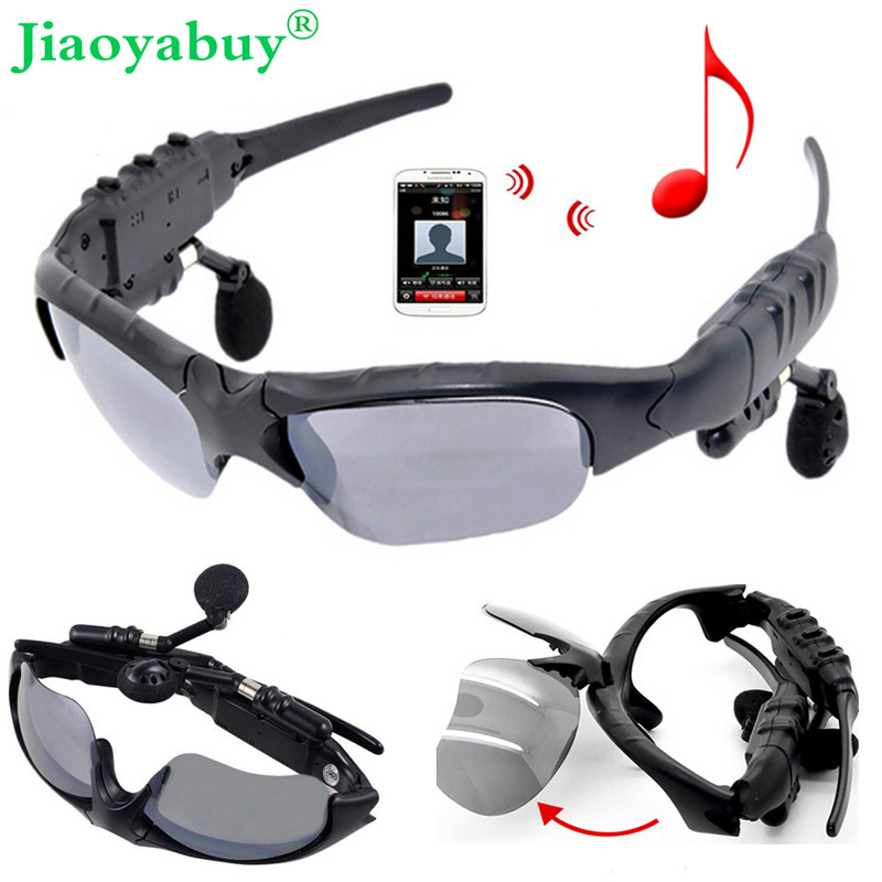 Jiaoyabuy Bluetooth Headset  Sport Sunglasses Wireless Headphone  Earphone with Miphone for Samsung iPhone LG xiaomi original r6000 wireless headphone bluetooth headset for samsung xiaomi iphone 7 car charger 2 in 1 bluetooth earphone