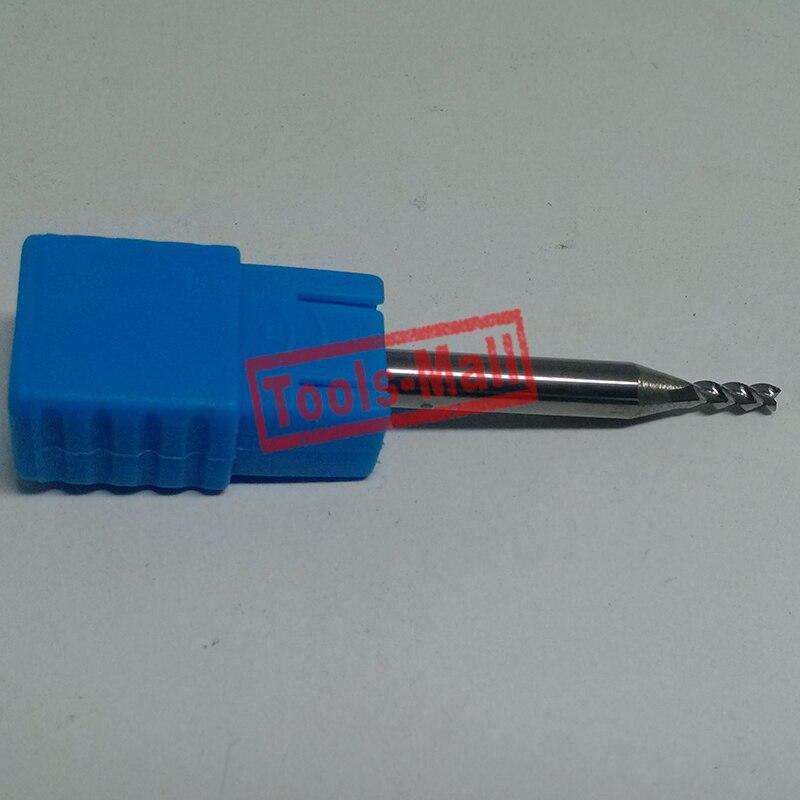 1pc 2mm D2*6*D4*50 HRC50 3 Flutes Milling cutters for Aluminum  CNC Tools Solid Carbide CNC flat End mills Router bits