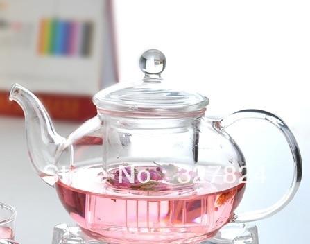 Glass Teapot 600ML Three-piece Set High Temperature Resistance