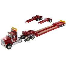 Collection Diecast 1/50 1:50 Scale International Red HX520 w/XL120 Low Loader - Diecast Masters 71016 сабельная пила bosch gsa 18 v li c аккум 3050ход мин