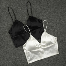 9529c7a110eca Sexy Lingerie Hot Silk Plunge Strappy Bras For Women Unpadded Bralette  Sleeping Brassiere Wireless Sexy Bra