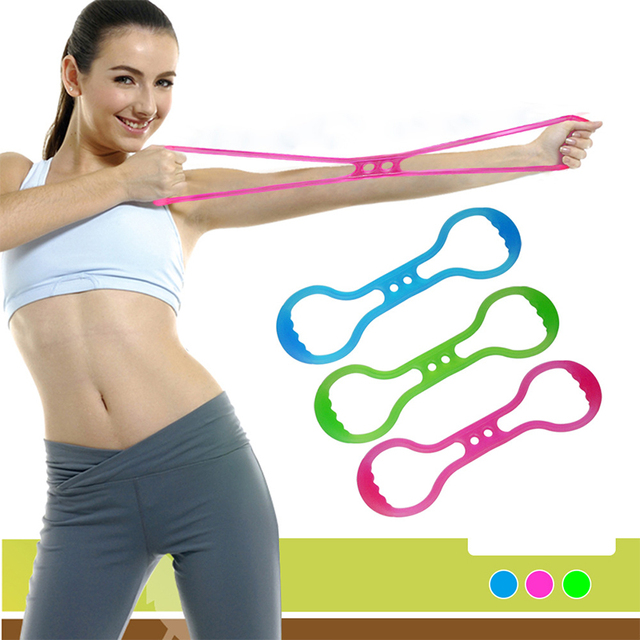 New Silicone Resistance Band Jelly 8 Type Hand Gripper Chest Developer Muscle Fitness Yoga Workout Pulling Outdoor Fitness