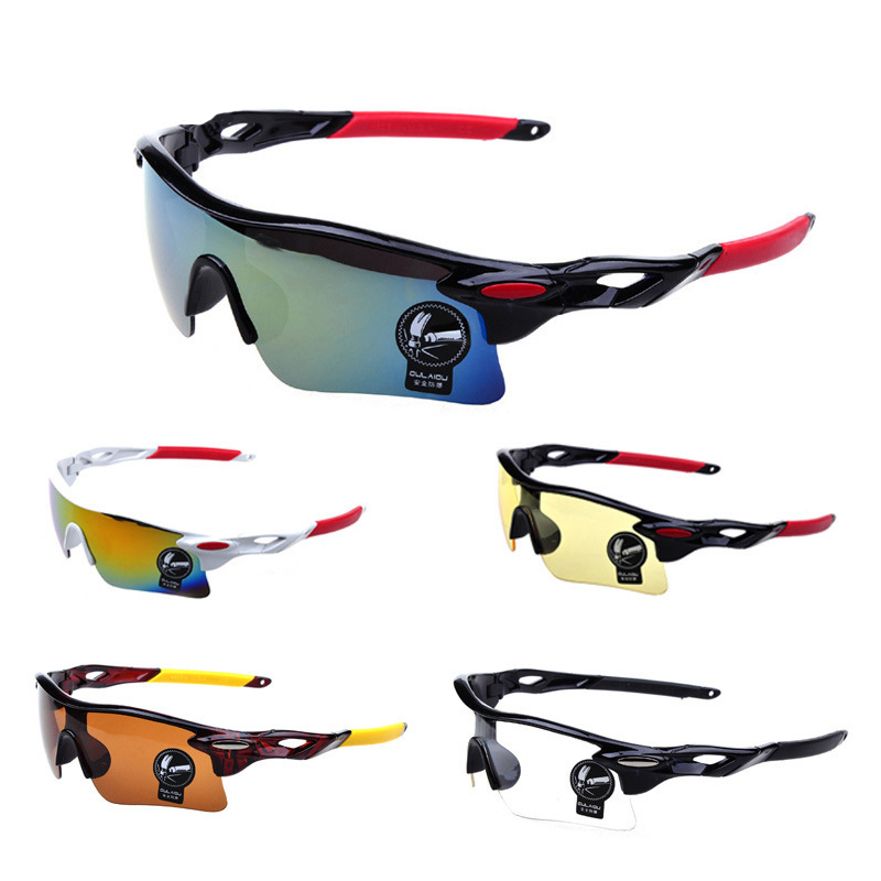 Outdoor Sports Windproof Sunglasses Man ReflectiveMirror Glasses Big Surround Eyewear With Non-Slip Nose Goggle
