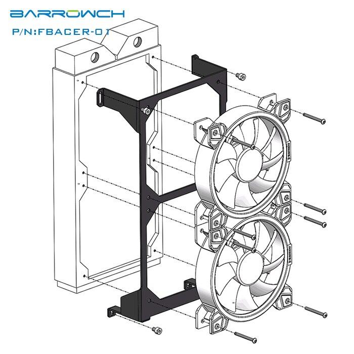 Aliexpress Com Buy Fbacer 01 Radiator Fan Baracket Install To