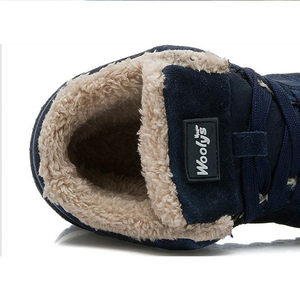 Image 5 - 2019 Mens Sneakers Winter Plush Snow Casual Shoes Men Keep Warm Shoes Male Sneakers Outdoor Walking Krasovki Zapatillas Hombre