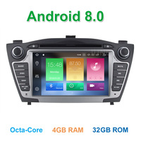 Android 8.0 Car DVD Player Radio for Hyundai IX35 Tucson 2011 2012 2013 with Bluetooth WiFi GPS head device unit stereo