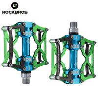 ROCKBROS Bicycle Pedals MTB Bike Pedal Platform Cycling Magnesium Outdoor Sports Multi Color Mountain Pedal Bicycle
