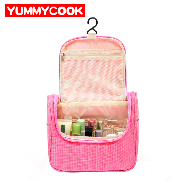 Hanging Folding Toiletry Storage Bags Portable Travel Oxford Mesh Waterproof Organizer Cosmetic Pouch Accessories Supplies Item