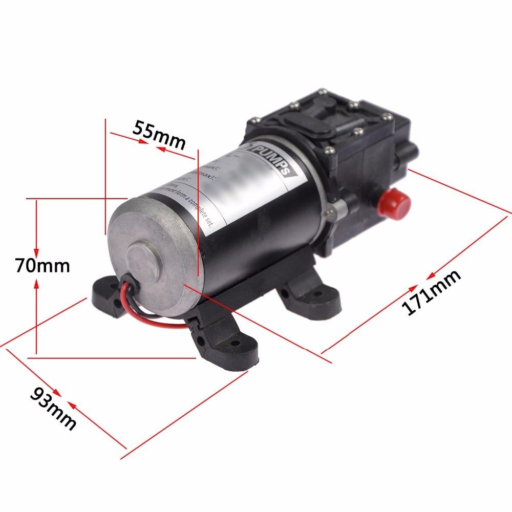 ФОТО New DC 12V 100W 8L/min Micro Diaphragm High Pressure Water Pump Automatic Switch