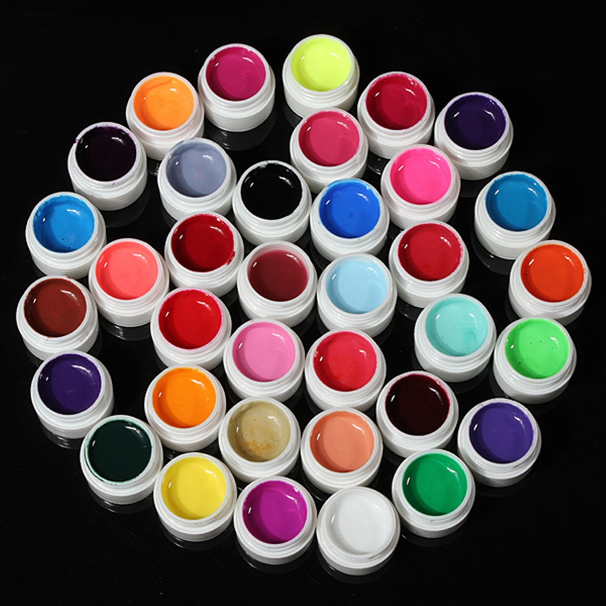 Pro Mix 36 Colors Shiny Cover Solid Colors UV Gel Kit Sets for Nail Art Tips Extension Manicure DIY Decorations Design Set Tools 12 colors 3mm waterdrop rhinestone nail art salon stickers tips diy decorations with wheel chic design 5gpn