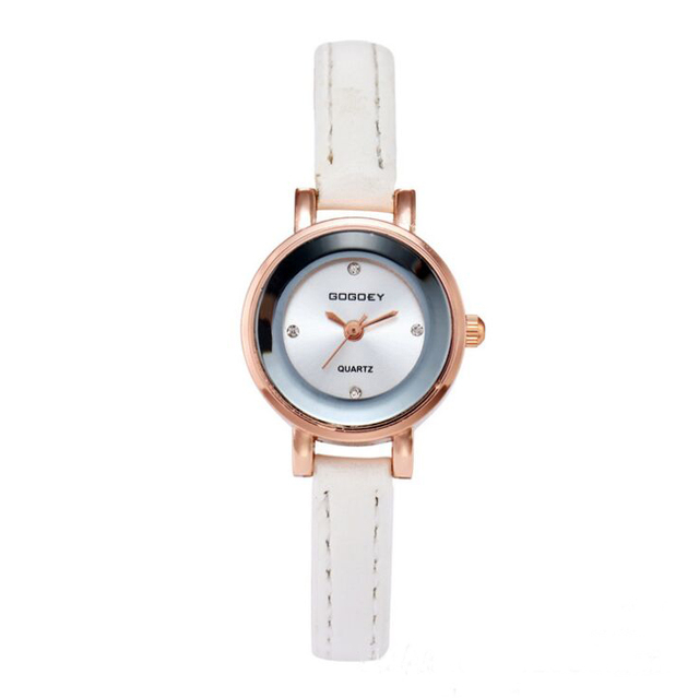 6f7fa7b502f 2018 new Gogoey brand thin leather watches women ladies crystal Dress Quartz  Wrist Watch Relojes Mujer go4406