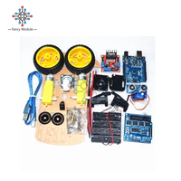 Tracking Motor Smart Robot Car Chassis Kit Speed Encoder Battery Box 2WD Ultrasonic Module For Anduino