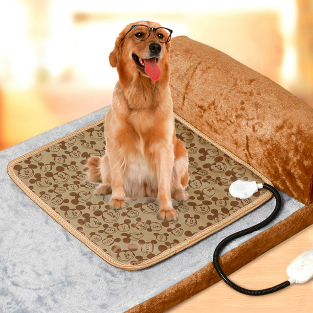 Electrical Waterproof Pet Chair Heater Animals Heaters Plush Keep Warming Electric Mini Heated Blanket For And Floor