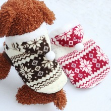 2019 Newest Pets Dog Winter Coat Fleece Snowflake Printed Puppy Cat Clothes Appral Jacket