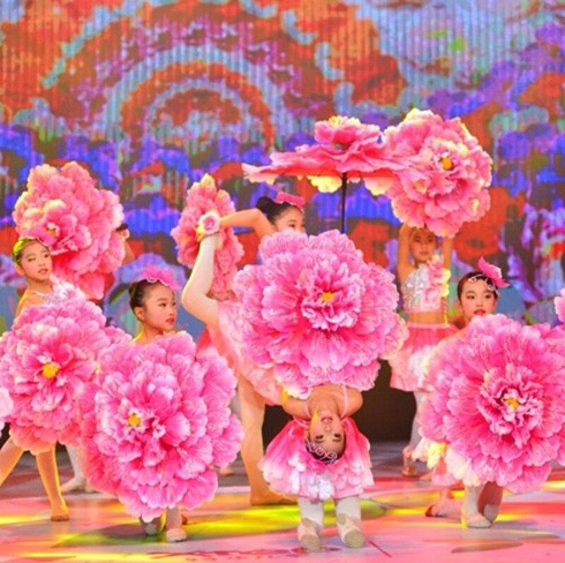 Ev ve Bahçe'ten Şemsiye'de 70 cm Retro Çin Şakayık Çiçek Şemsiye Çocuklar Çocuklar için Sahne Dans Performansı Sahne Düğün Dekorasyon Fotoğraf Şemsiye'da  Grup 1