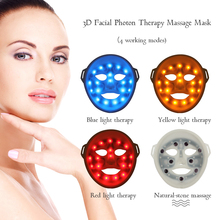 3 Color Light LED Mask Facial Massager Electric Mask LED Therapy Face Massager Muscle Stimulator Vibrator Antiaging Beauty Tools