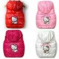 Novo Inverno Meninas Colete de Algodão Dos Desenhos Animados Olá Kitty Meninas Encapuzados Jaqueta Manter As Crianças Quentes Polares Macios Casacos Infantis Roupas