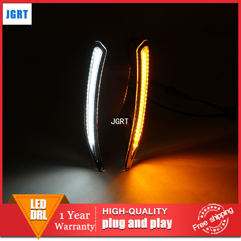 car styling 2012-2013 For Buick Regal GS LED DRL For Regal GS led fog lamps daytime running light High brightness guide LED DRL car white yellow daytime running light drive lamp for buick regal gs 2010 2011 2012 2013 2014 2015 led drl daylight fog lamp