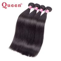 Queen Hair Products Peruvian Straight Hair Bundles 1PC 100% Remy Human Hair Weave Weaving Natural Hair Can Buy 3 or 4 Bundles