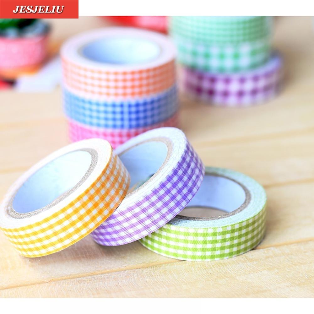 15mm Washi Decorative DIY Tape Grid Crafts Adhesive