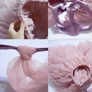 Image 5 - Вечерняя забавная Тюлевая юбка со шлейфом «сделай сам» без швов для женщин и девушек, многослойная Тюлевая Макси юбка длиной 100 см, модные женские юбки 2020