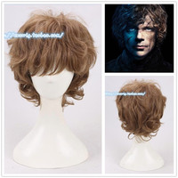 HBO Game Of Thrones Tyrion Lannister Wig Peter Dinklage Brown Curly Hair Costumes
