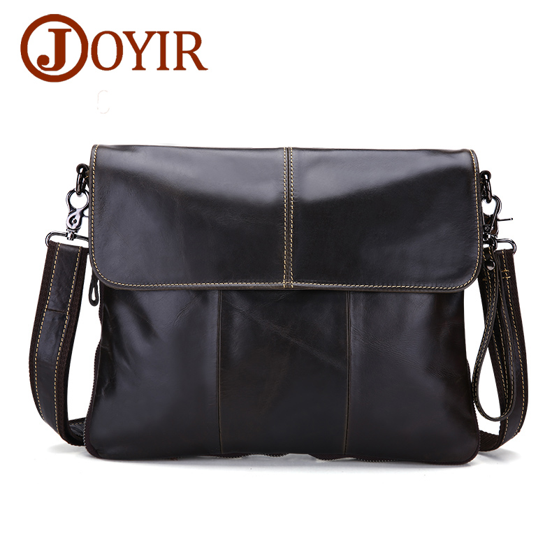 JOYIR Men's Messenger Bags For Men Cross Body Bag Men's Bag Genuine Leather Shoulder Bags Business Casual Handbag for Male 3217 vintage men messenger bag genuine leather casual handbag business laptop cross body shoulder bags retro male briefcase