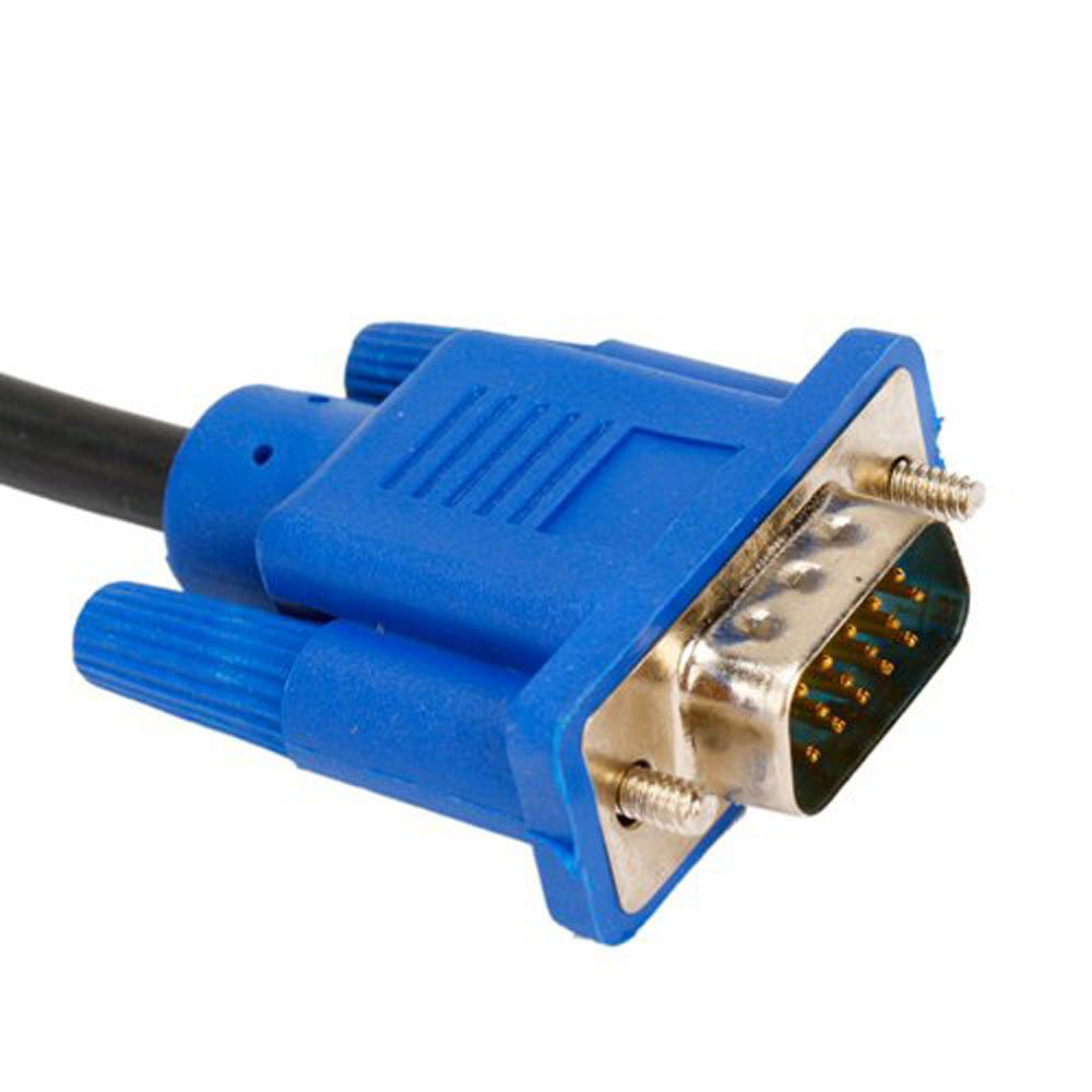 Image 2 - 6FT 1.8M VGA Male to Male Cable SVGA Monitor Cord Blue Plug for PC Computer VGA Display Cable-in Computer Cables & Connectors from Computer & Office