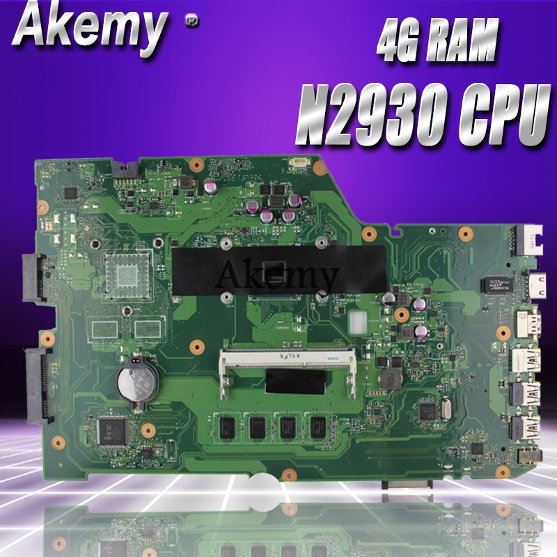 Akemy X751MA Laptop motherboard for ASUS X751MA X751M X751 Test original mainboard 4G RAM N2930 CPU