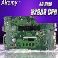 Akemy X751MA материнская плата для ноутбука ASUS X751MA X751M X751 тесты оригинальная 4 г оперативная память N2930 процессор