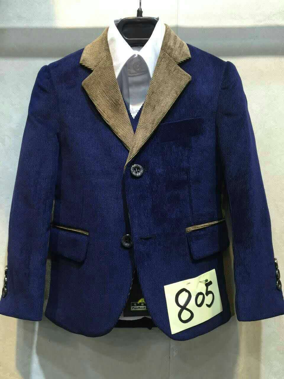 Boys Navy Blazer Jacket Set Corduroy Wedding Suits For Teen Boys Prom Suit Kids Fall Clothing ...