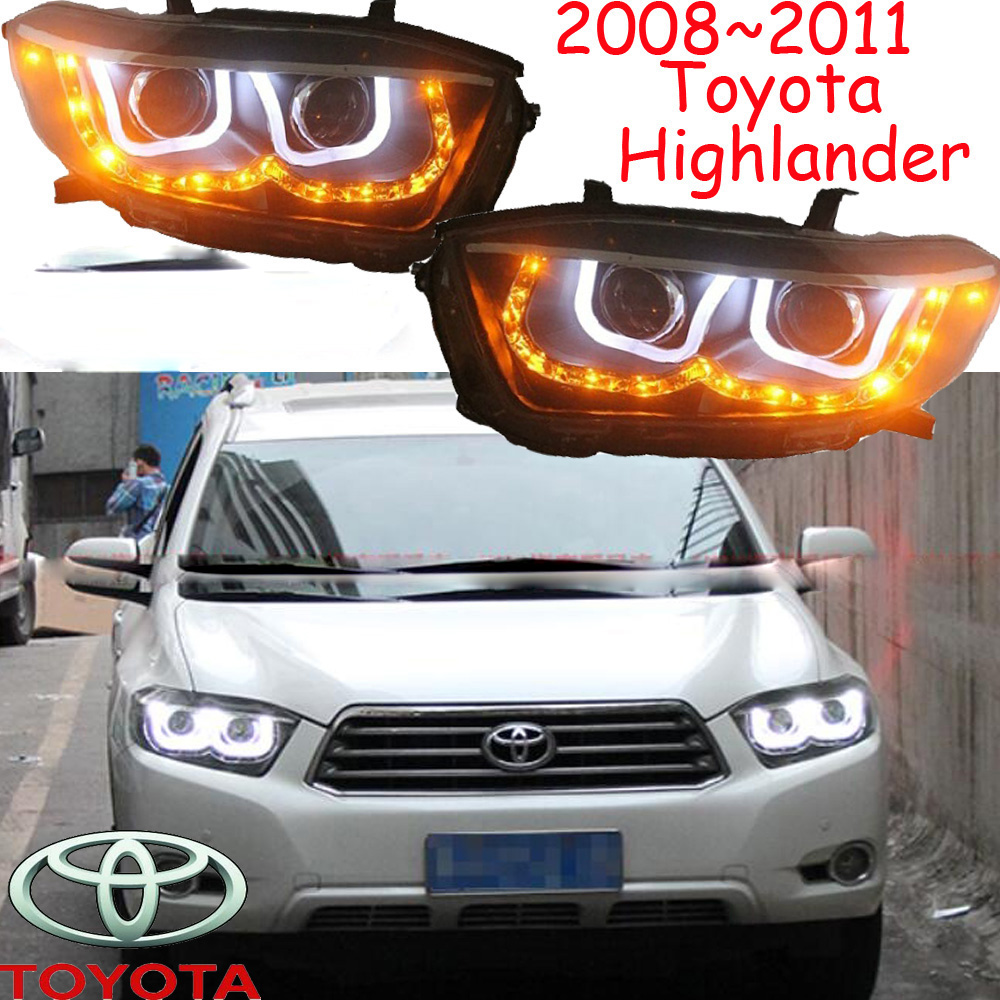 HID,2008~2011,Car Styling for Highlander Headlight,vios,corolla,camry,Hiace,sienna,yaris,Tacoma,Highlander head lamp