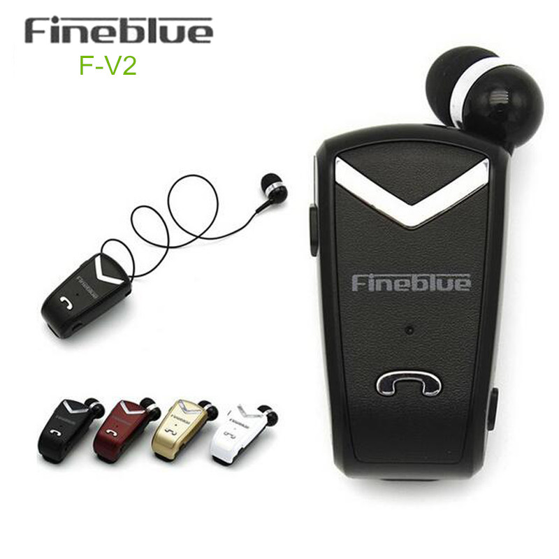Fineblue F-V2 Bluetooth Stereo Headset BT4.0 Voice Prompt Wireless Music Earphone Earpiece Cable with Clip for Oppo/LG ...