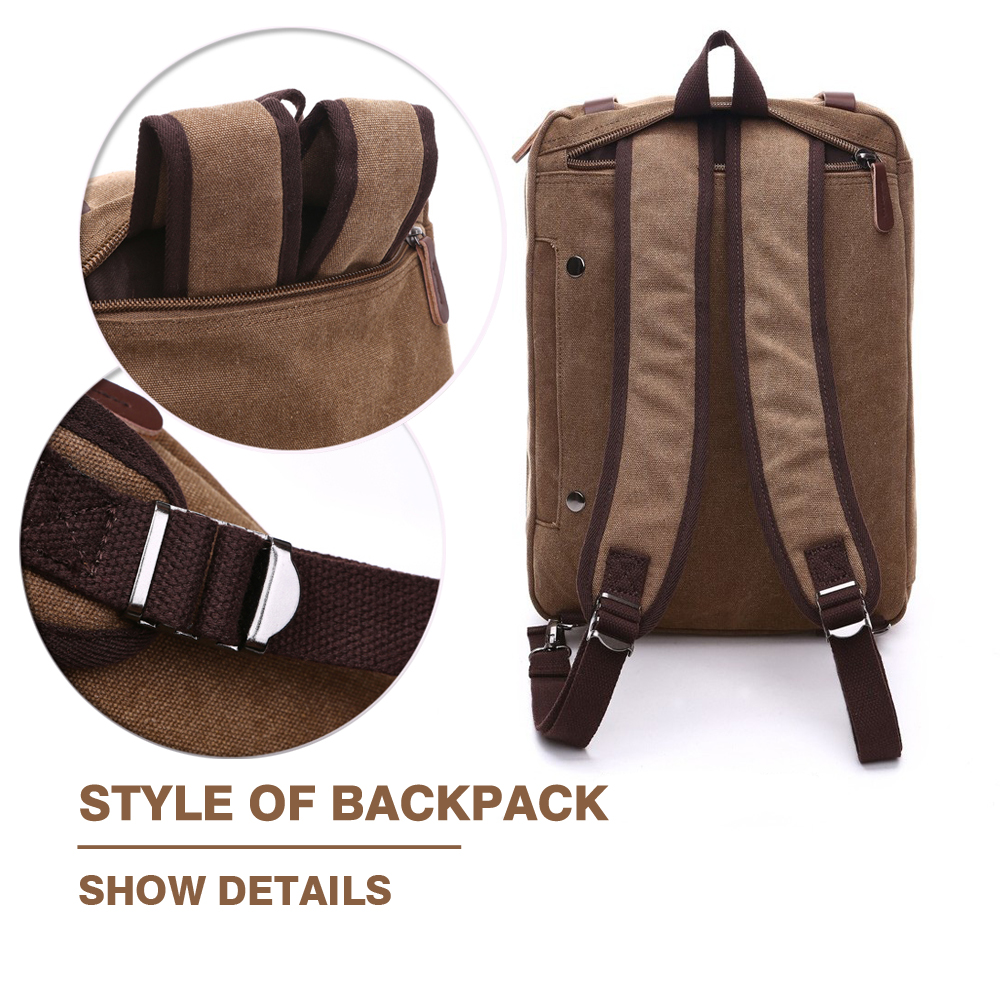 Canvas Leather Men Travel Bags Hand Luggage Bags 1