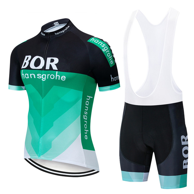 adba10405 2018 TEAM BOR Cycling Jersey 9D Gel Bike Shorts Ropa Ciclismo Mens Summer  Quick-dry Pro Bicycling Wear Maillot Culotte