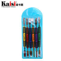 Kaisi 6 in 1 Metal Spudger Set removal Opening pry Repair Tool Kit for phone computer Hand Tool Sets double heads