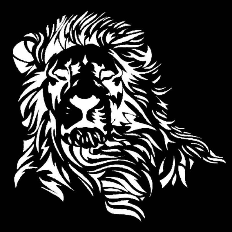 Image 2 - 17,2*17 см Wild Mighty Lion виниловые наклейки для автомобиля в западном стиле, наклейка на кузов автомобиля, черный/серебристый S1 2600-in Наклейки на автомобиль from Автомобили и мотоциклы