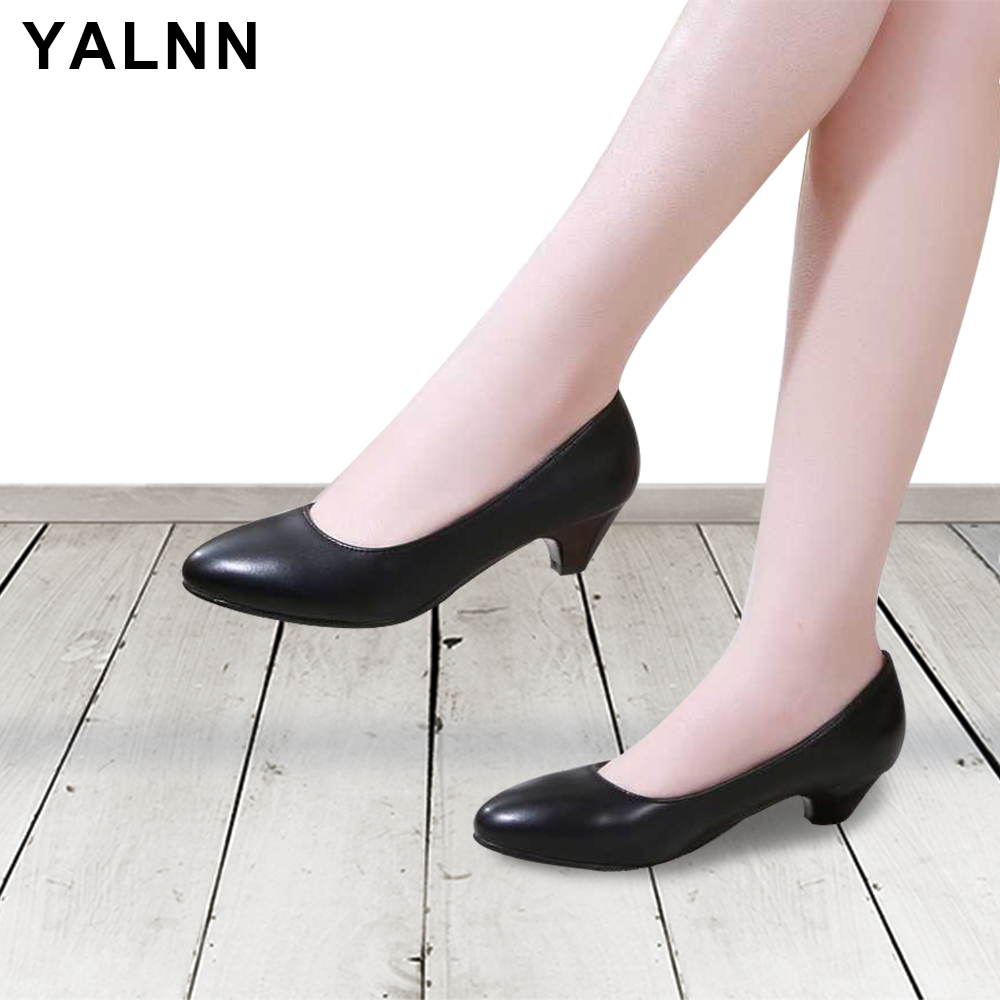 YALNN New Woman Pumps Shoes Plus Size Spike Heels Basic Clas