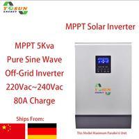 Nuevo 5Kva MPPT 4000W inversor Solar 230Vac Off Grid inversor onda sinusoidal pura Build in MPPT 80A
